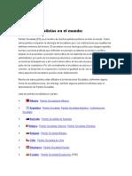 Partido Socialista (Mundial y Argentino)