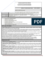 Plan y Programa de Evaluacion Tutoria III