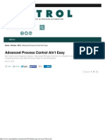Control Systems - Advanced Process Control Ain't Easy