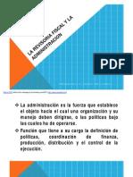 La R. Fiscal y La Administracion