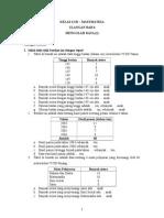 Soal Matematika Kelas 6 SD Semester I - Ulangan Bab 4 Mengolah Data (I)