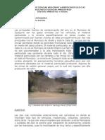 Contaminación en Zipaquira