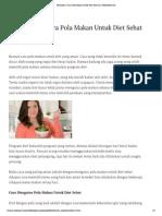 Perhatikan 3 Cara Pola Makan Untuk Diet Sehat Ini _ TeknikDiet