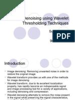 wavelet denoising