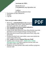 Tata Cara Pengisian Rencana Studi Online