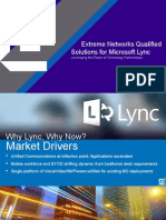 Extreme Networks Microsoft Lync Customer Presentation