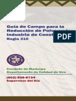 Guía de Campo Para La Reducción de Polvo en La Industria de La Construcción