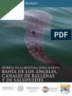 Programa de Manejo de la Reserva de la Biósfera Bahía de los Ángeles, canales de ballenas y de Salsipuedes