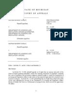 Murphy-Dubay v. Dep't of Licensing and Regulatory Affairs, No. 321380 (Mich. App. Aug. 18, 2015)