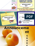 Materi Announcement