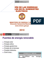 Aplicación de Las Energías Renovables en El Suministro Electrico