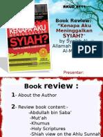 Book Review Kenapa Aku Meninggalkan Syiah