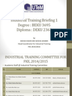 Industrial Training Briefing Part 2-Degree & Diploma - 20 May 2015