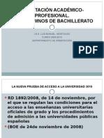 OrientaciÓn AcadÉmicoprofesional. Para Alumnos de Bachillerato