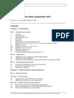 SA WHS Regs 2012