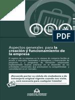 Guía 13. Aspectos Generales Para La Creación y Funcionamiento de La Empresa