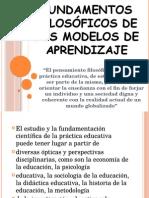 Fudamentos Filosoficos de Los Modelos de Aprendizaje