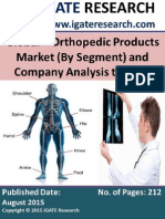 Global Orthopedic Product Market (by Segment) and Company Analysis to 2020