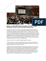 Report on 2015 NPT Review Conference