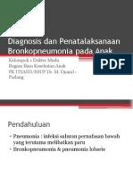 Diagnosis Dan Penatalaksanaan Bronkopneumonia Pada Anak