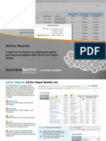 Adhoc Reports in Success factors