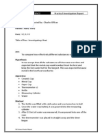 pdf investigating heat - practical report