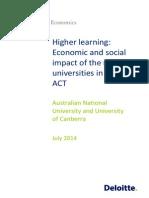 UC ACT Universities Economic Contribution Final