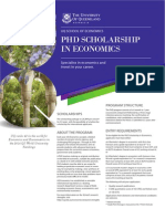 PhD Scholarships Flyer 2014