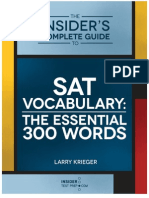 Important  Vocabulary list for SAT