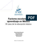 Factores Escolares Aprendizaje Mexico