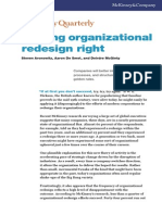 Getting Organizational Redesign Right