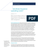 What Drives Insurance Operating Costs