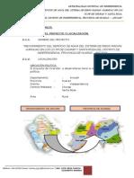 Perfil Mejoramiento Del Servicio de Agua Para Riego Churap Santa Rosa