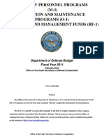 Military Personnel Programs (M-1) Operation and Maintenance