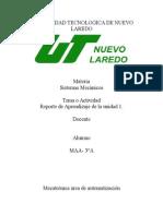Resultado Del Aprendizaje U1 Sistemas Mecánicos
