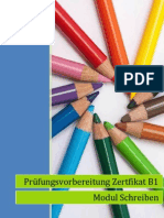 Prüfungsvorbereitung Zertifikat B1 Modul Schreiben