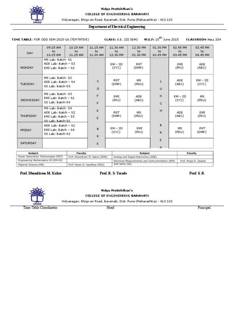 time table 2015 new sem  4  docx