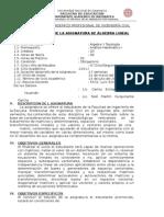 Silabo Algebra Lineal - Ingenieria Civil