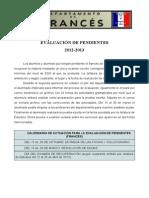 .RECUPERACI+ôN DE PENDIENTES 2012-2013