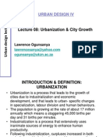 Urban Design_Lecture_08_Urbanization and City Growth