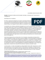 "Declaración institucional de [ciudad, municipio, comarca] como ""Zona Libre de Transgénicos"" / 20150722_CartaZLTs"