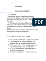 Hrm Topic – Recruitment