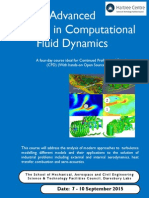 CPD Advanced Methods in CFD, September 2015, The University of Manchester