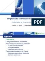 URP Sesion 12 - Etica y Conducta Profesional