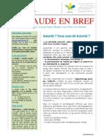 Bulletin PEPS Aude en Bref 1er Trimestre 2015