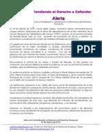 Alerta Criminalización a Defensoras Sonia Isabel Gáleas, Gerardina Santos Hernández y Norma Suyapa Herrera