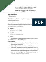 GH Raisoni National Moot Rules 2015