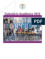 Calendário Acadêmico UERJ 2015 Atualizado