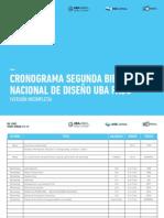 Cronograma 2a Bienal Nacional de Diseño UBA FADU ( Provisoro 31-07)