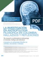 1. La Investigación en Antropología Filosofica en Colombia